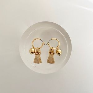 J.Crew Golden Tassel Earrings